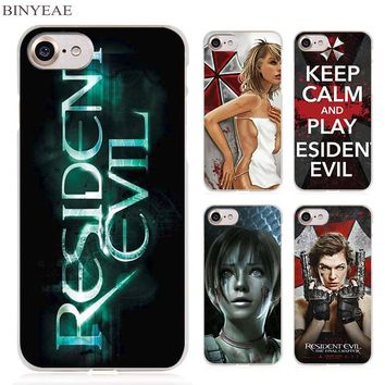 BINYEAE Resident Evil Umbrella Corporation Clear Cell Phone Case Cover for Apple iPhone 4 4s 5 5s SE 5c 6 6s 7 7s Plus