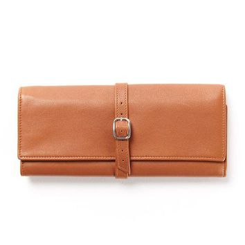 Leather Jewelry Travel Roll