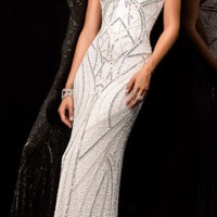 Dramatic sweetheart evening gowns by Scala