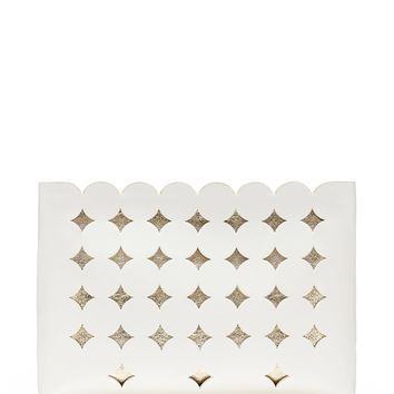 Laser-Cut Medium Zip Pouch | Banana Republic
