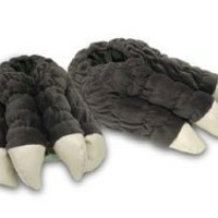 Toy Vault Godzilla Feet Plush Slippers