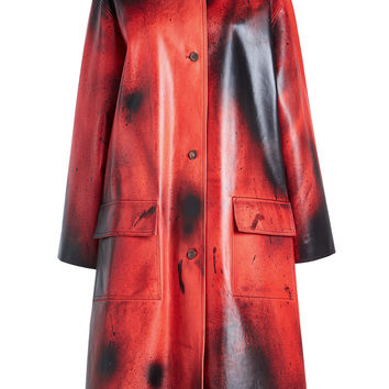 Printed Leather Coat - CALVIN KLEIN 205W39NYC | WOMEN | KR STYLEBOP.COM