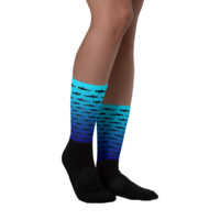 Hammerhead Shark Socks - Custom Socks - Fish Socks - Animal Socks - Ocean Socks - Themed Socks