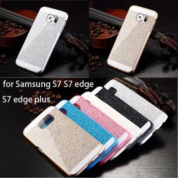 Luxury Shinning Glitter Bling Back Cover Case for Samsung Galaxy S3 I9300 S4 I9500 S5 I9600 S6 G9200 S7 S6 S7 Edge Phone Cases