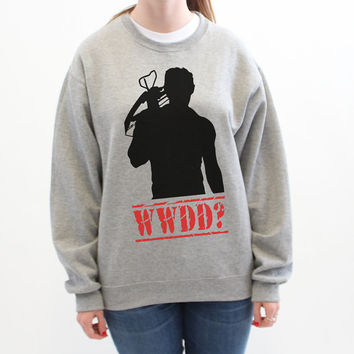 What Would Daryl Do? Daryl Dixon - Sweatshirt Gray - 150