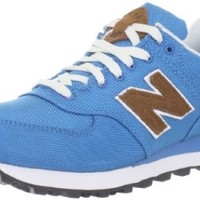 New Balance Women's Wl574 Back Pack Fashion Sneaker,Blue/Brown,12 B US