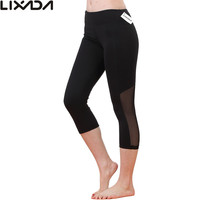 Black LIXADA Stretchy Quick Drying Tight Yoga Pants
