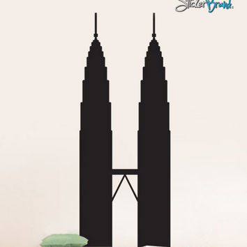 Vinyl Wall Decal Sticker Petronas Twin Tower #298