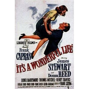 It's a Wonderful Life Movie Poster James Stewart 1