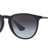 RAY-BAN RB 4171 622/8G Erika Black Round Sunglasses