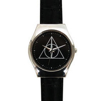 Harry Potter Exclusive Deathly Hallows Crest Adult Watch: WBshop.com - The Official Online Store of Warner Bros. Studios