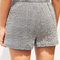 Silence + Noise High-Rise Plaid Boxer Short | Urban Outfitters