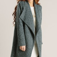 Tasha Black Marled Coat