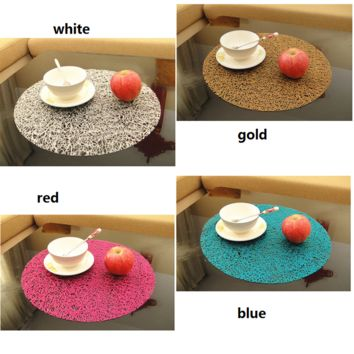 Colorful Slip Resistant Plastic Insulated Table Mat