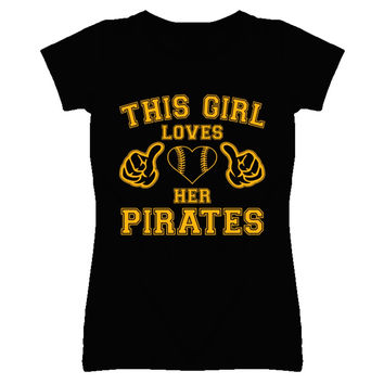 Youth This Girl Loves Her Pittsburgh Pirates Heart T-Shirt