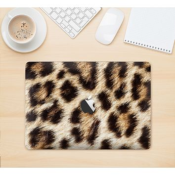 "The Leopard Furry Animal Hide Skin Kit for the 12"" Apple MacBook"