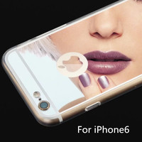 Womens Mirror Case Cover for iPhone 5S 6S 6 Plus Samsung Galaxy S6-123 + Gift Box