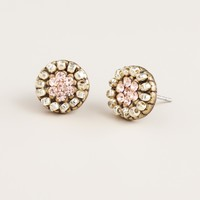 Gold and Silver Round Stud Earrings - World Market