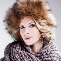Oversized Beret - Artificial Fur - Autumn Fashion Accessory - Warm Winter Hats Perfect Fit - Chunky Faux Fur - Soft Fleece Lining - AW14/15