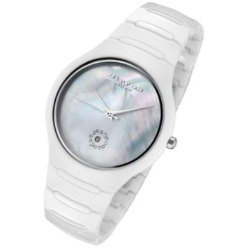 Cirros Milan Women's Luxury White Ceramic Watch | Overstock.com Shopping - The Best Deals on More Brands Women's Watches