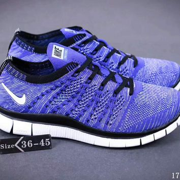 Nike NIKE FREE FLYKNIT NSW barefoot line running shoes high quality perfect new goods F-SSRS-CJZX Purple