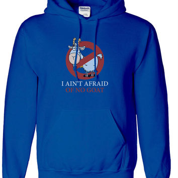 Chicago Cubs Bill Murray Ghostbusters Parody Hoodie Hooded Sweatshirt Cubs I ain't afraid of Goats