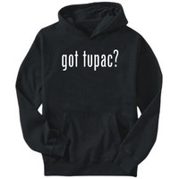 Got Tupac? Black Hoodie Mens Large