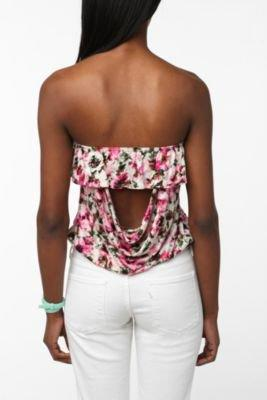 Pins and Needles Ruffle Strapless Top