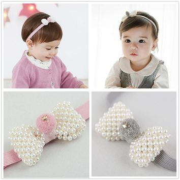 TOP cute newborn kids pear headband head wear elastic hair bands for girls headwear hair accessories ornament turbant headdress