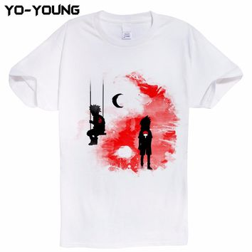 Anime Naruto Uchiha Itachi  Team 7 T Shirts Men Digital Printing 100% 180 gsm Combed Cotton Casual Tee Shirt Homme Customized
