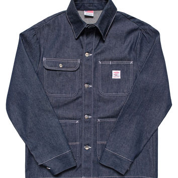 Indigo Denim Chore Coat - Raw - Cone White Oak