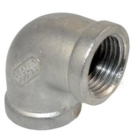 "MEGAIRON 1/2"" Elbow 90 Degree Angled F/F Stainless Steel SS 304 Female*Female Threaded Pipe Fittings"