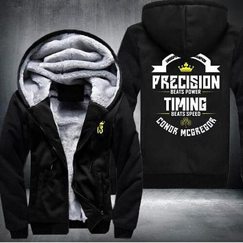 USE SIZE Conor Mcgregor Hoodies Zip Up Printing Pattern Coats Super Warm Thicken Fleece Men's Coat fast ship 5-10 days arrive