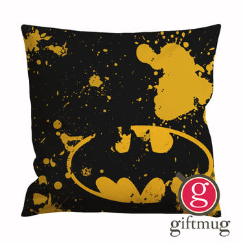 Classic Batman Logo Cushion Case / Pillow Case