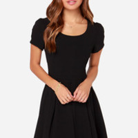 Bakewell Short Sleeve Black Dress