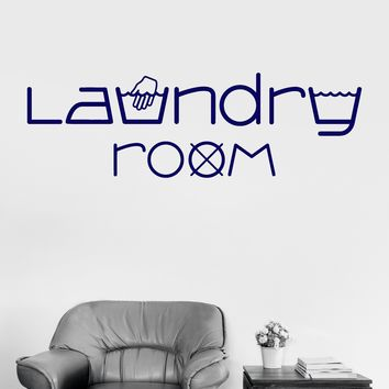 Vinyl Wall Decal Laundry Room Washing Bathroom Stickers Unique Gift (ig3867)