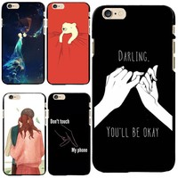 Black PC Case Cover For Apple iPhone 4 4S 5 5S SE 5C 6 6S 6Plus 6S+ Cases Ten Interlocking Agreement With Love Pregnant Cover