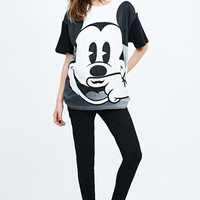 Eleven Paris Mickey Mouse Life is a Joke Tee in Black and White - Urban Outfitters
