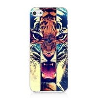 Tiger Roar Cross Hipster Quote Design for Iphone 5c Case Hard Cover