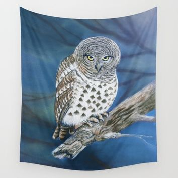 Owl Wall Tapestry by Azure Avenue