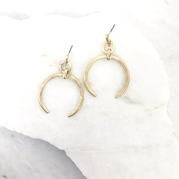 Ring The Alarm Gold Earrings