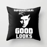 Supernatural Good Looks Throw Pillow by LookHUMAN