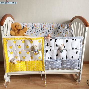 Cotton Tree Bed Hanging Storage Bag Baby Cot Bed Crib Organizer for Crib Bedding Set