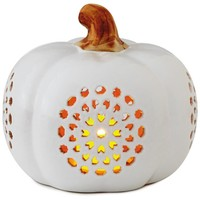Small Pierced Ceramic Pumpkin Luminary, 6""