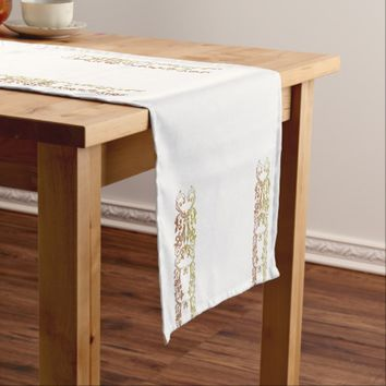 Design 3 short table runner