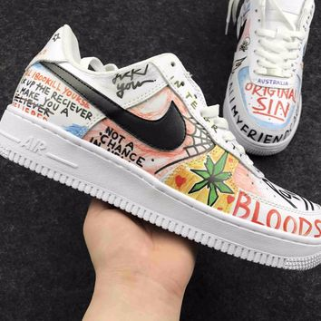 Fashion Online Best Online Sale Supreme X Cdg X Nike Air Force 1 Graffiti Shoes Sport Shoes