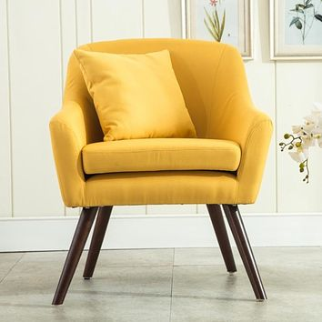 Linen Cozy Fabric Accent  Chair