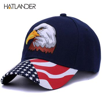 Spring summer men baseball caps embroidery Eagle hunting hat women hip hop adjustable golf sports hats