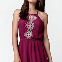 LA Hearts Goddess Neck Embroidered Romper at PacSun.com
