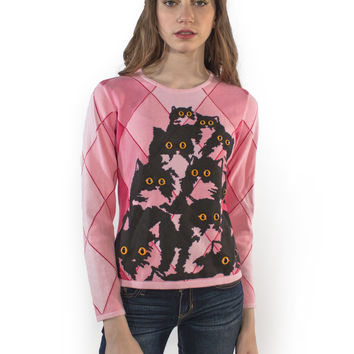 Pink Diamond Kitty Sweater